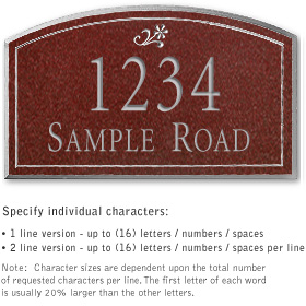 Salsbury 1422MSDS Signature Series Address Plaque