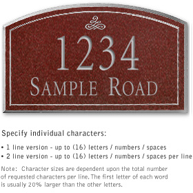 Salsbury 1422MSIS Signature Series Address Plaque