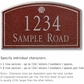 Salsbury 1422MSSS Signature Series Address Plaque