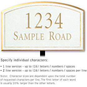 Salsbury 1422WGNL Signature Series Address Plaque