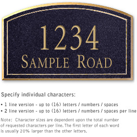 Salsbury 1421BGNS Signature Series Address Plaque