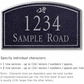 Salsbury 1421BSDS Signature Series Address Plaque