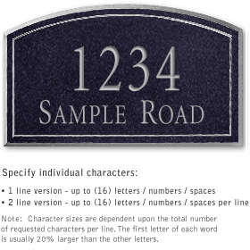 Salsbury 1421BSNS Signature Series Address Plaque