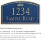 Salsbury 1421CGFS Signature Series Address Plaque