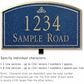 Salsbury 1421CGIL Signature Series Address Plaque