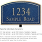 Salsbury 1421CGNL Signature Series Address Plaque