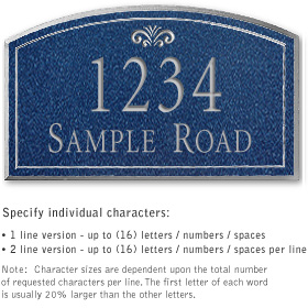 Salsbury 1421CSFS Signature Series Address Plaque