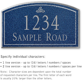 Salsbury 1421CSIS Signature Series Address Plaque