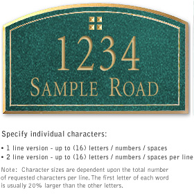 Salsbury 1421JGGS Signature Series Address Plaque
