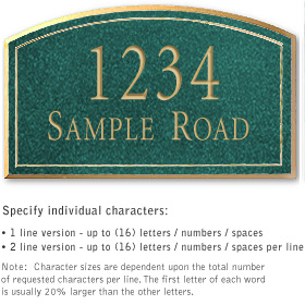 Salsbury 1421JGNS Signature Series Address Plaque