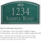 Salsbury 1421JSFS Signature Series Address Plaque
