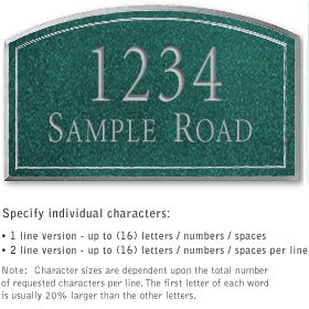 Salsbury 1421JSNS Signature Series Address Plaque