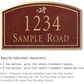 Salsbury 1421MGDS Signature Series Address Plaque