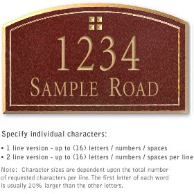 Salsbury 1421MGGS Signature Series Address Plaque
