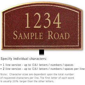 Salsbury 1421MGNL Signature Series Address Plaque