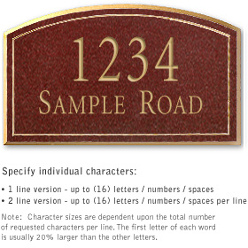 Salsbury 1421MGNS Signature Series Address Plaque