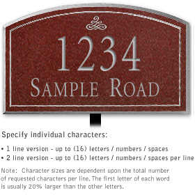 Salsbury 1421MSIL Signature Series Address Plaque