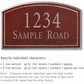 Salsbury 1421MSNS Signature Series Address Plaque
