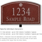 Salsbury 1421MSSL Signature Series Address Plaque