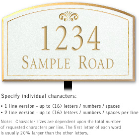 Salsbury 1421WGFL Signature Series Address Plaque