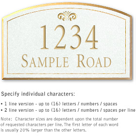 Salsbury 1421WGFS Signature Series Address Plaque