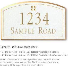 Salsbury 1421WGGS Signature Series Address Plaque