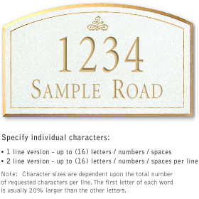 Salsbury 1421WGIS Signature Series Address Plaque