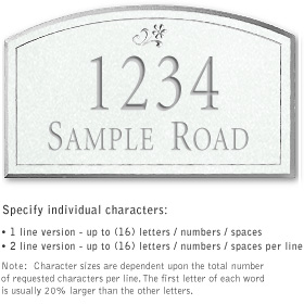 Salsbury 1421WSDS Signature Series Address Plaque