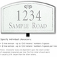 Salsbury 1421WSFL Signature Series Address Plaque