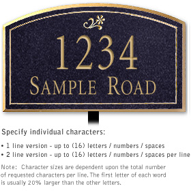 Salsbury 1420BGDL Signature Series Address Plaque