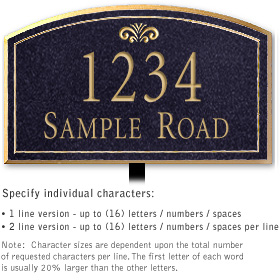 Salsbury 1420BGFL Signature Series Address Plaque