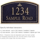 Salsbury 1420BGIS Signature Series Address Plaque