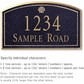 Salsbury 1420BGSS Signature Series Address Plaque