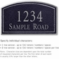 Salsbury 1420BSNS Signature Series Address Plaque