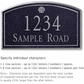 Salsbury 1420BSSS Signature Series Address Plaque