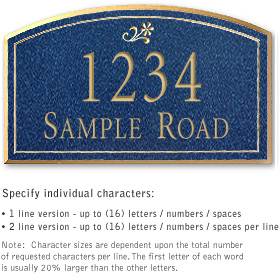 Salsbury 1420CGDS Signature Series Address Plaque