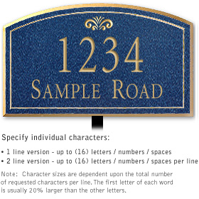 Salsbury 1420CGFL Signature Series Address Plaque