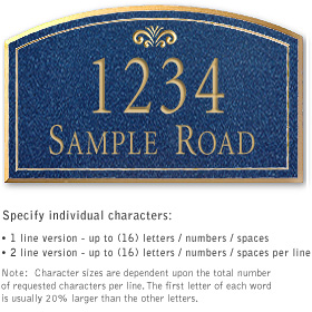 Salsbury 1420CGFS Signature Series Address Plaque
