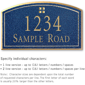 Salsbury 1420CGGS Signature Series Address Plaque
