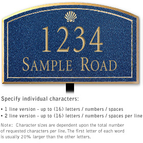 Salsbury 1420CGSL Signature Series Address Plaque
