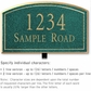 Salsbury 1420JGNL Signature Series Address Plaque