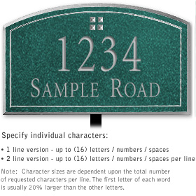 Salsbury 1420JSGL Signature Series Address Plaque