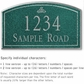 Salsbury 1420JSIS Signature Series Address Plaque