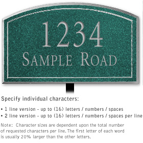 Salsbury 1420JSNL Signature Series Address Plaque