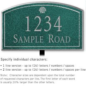Salsbury 1420JSSL Signature Series Address Plaque