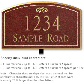 Salsbury 1420MGFL Signature Series Address Plaque