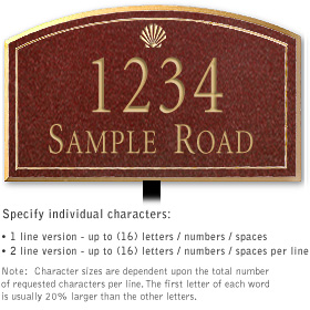 Salsbury 1420MGSL Signature Series Address Plaque