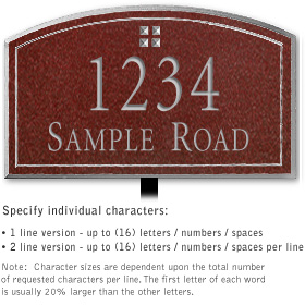 Salsbury 1420MSGL Signature Series Address Plaque