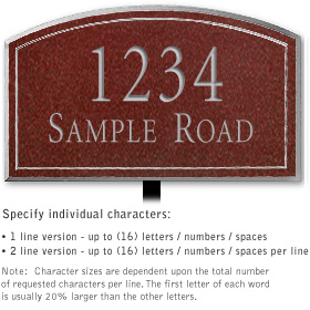 Salsbury 1420MSNL Signature Series Address Plaque