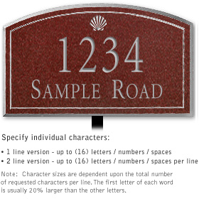 Salsbury 1420MSSL Signature Series Address Plaque
